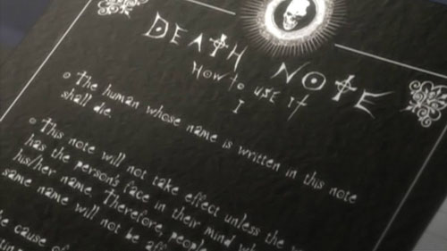 death note book livre