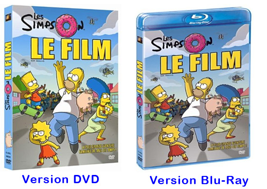DVD Blu-Ray Simpson le film