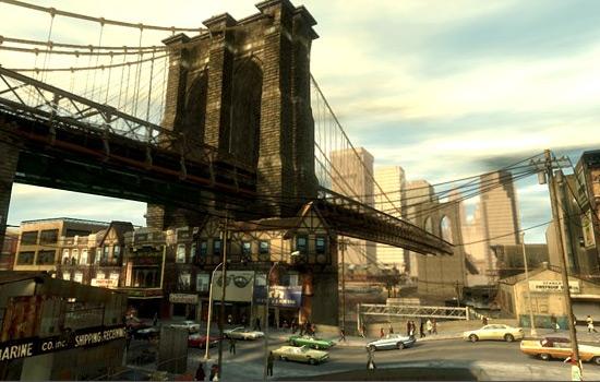 Modélisation de Liberty City dans GTA 4