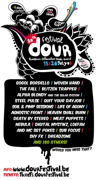 Dour Festival 2008 - Programme