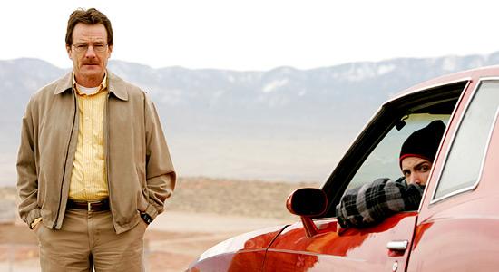 Walter White par Bryan Cranston et jesse pinkman par Aaron Paul dans Breaking Bad