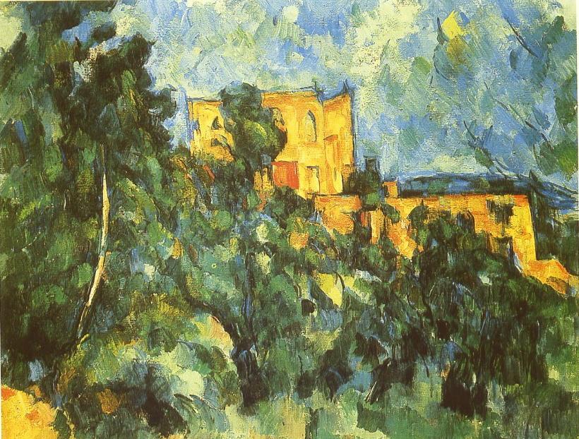 Le château noir peint par Paul Cezanne