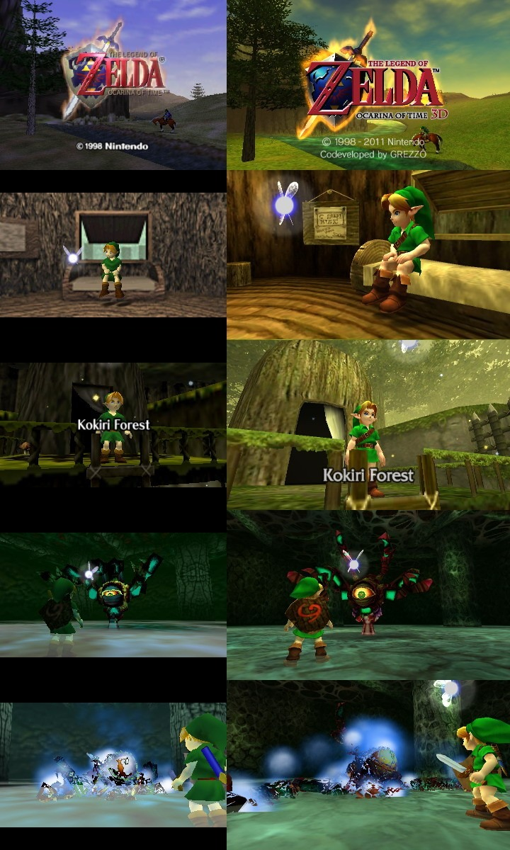 The Legend of Zelda Ocarina of Time 3D comparaison The Legend of Zelda