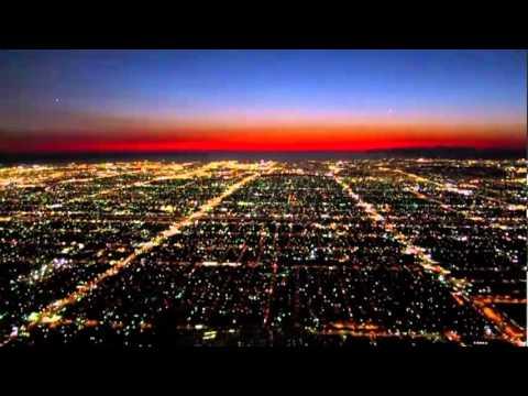 Los Angeles la nuit en avion…