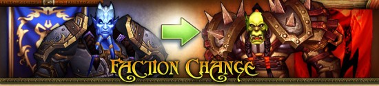 World of Warcraft : changement de faction