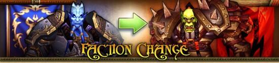 World of Warcraft : changement de faction